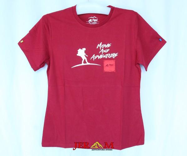 Baju Cewek Kaos Wanita Lengan Pendek Rei Move And Adventure R14K502201