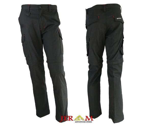Celana Panjang Potongan Pria Cargo Hitam Celana Mount Trek Matera CL023 MT