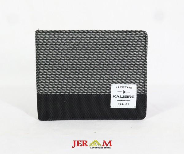 Dompet Kanvas Pria Horizontal Dompet Pendek Kalibre 995357 220 Grey Black