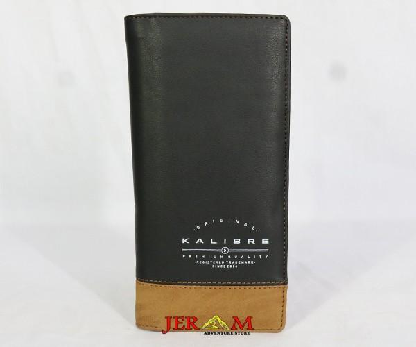 Dompet Kulit Sintetis Dompet Panjang Kalibre 995320 220 Brown Black