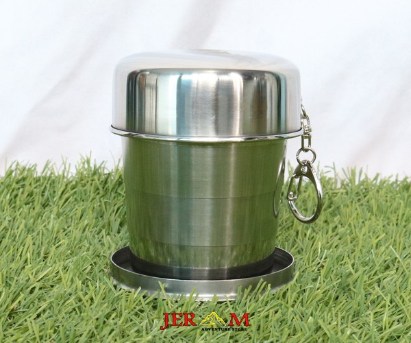 Gelas Lipat Cup Stainless Steel Mug Cup Rei ML CL1C-MF