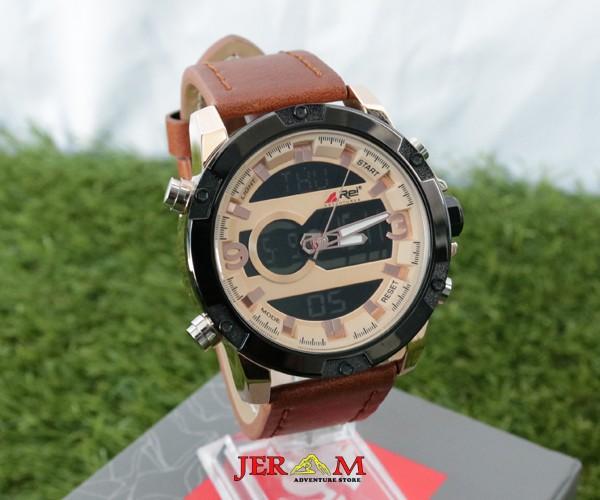 Jam Tangan Water Resistant  Pria Dual Time Jam Tangan Rei Horizon E