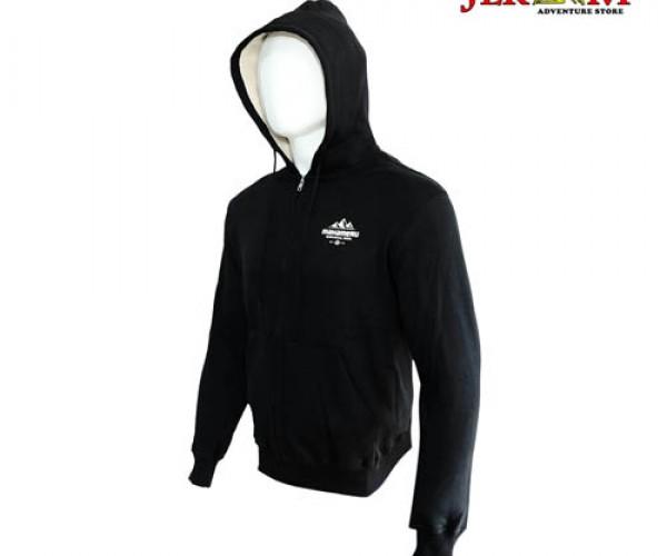 Mahameru Zip Hoodie 10 Black and Maroon