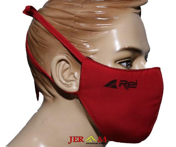 Masker Rei Nemesis 01 Masker Motor Triple Protector Mask Red Black and Red