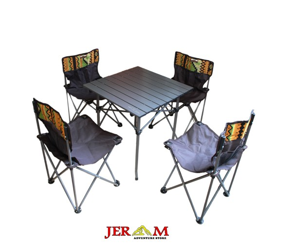 Meja dan Kursi Lipat Camping Dhaulagiri Folding Chair & Table