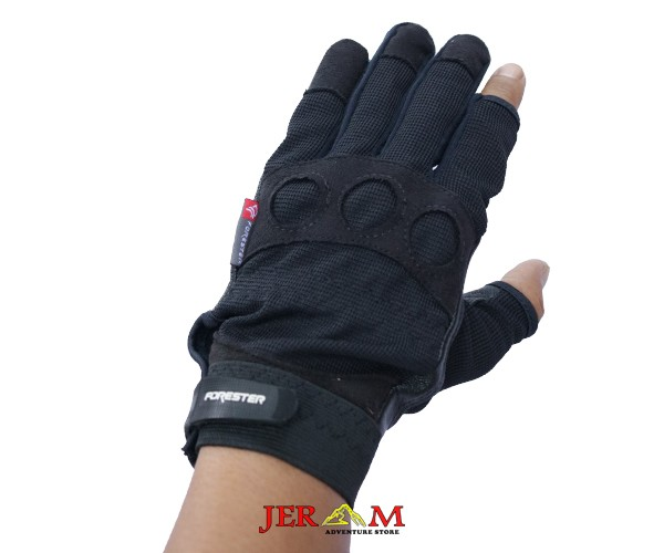 Sarung Tangan Kulit Sepeda Full Finger Touchscreen Forester 06074