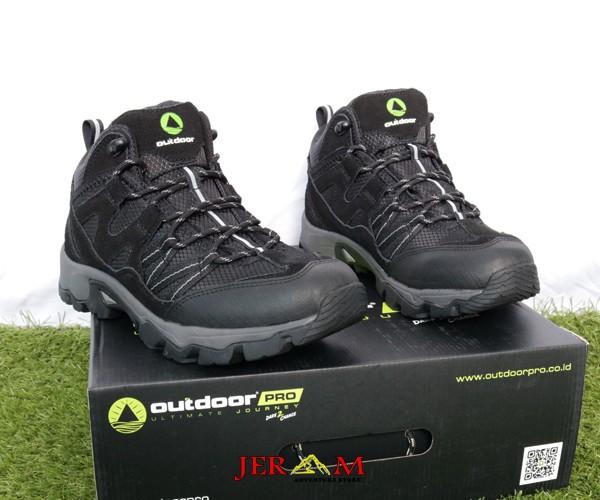 Sepatu Hiking Gunung Outdoor Pro Krypton Black Grey