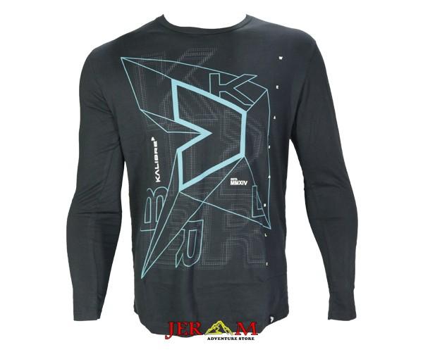 T-Shirt Pria Kaos Lengan Panjang Hitam Kaos Kalibre 980567 000