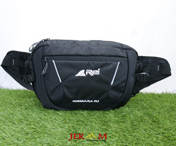 Waist Bag Besar Pria Hitam Tas Pinggang Rei Sundara 01